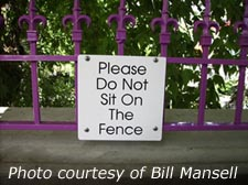Time to get off the fence!