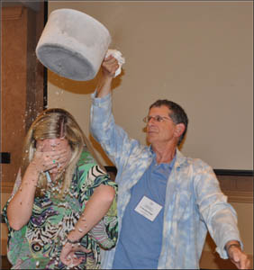 H. Michael Mogil, a meteorologist and author, shares some fun weather demonstrations with teachers at NWA 2011 in Birmingham.