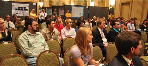 Meteorology students attending NWA 2011 in Birmingham get advice on how best to get their careers started.
