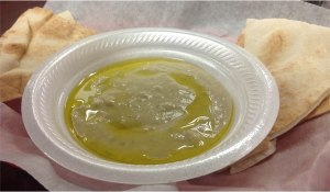 Baba ghanoush, served by Go-2-Grill, Hoover, Alabama